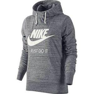 Nike Grey Heathered Gym Vintage Pullover Hood